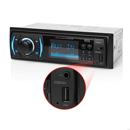 BOSS Audio Systems 612UA Multimedia Car Stereo - Single Din, no CD DVD  Player, MP3, USB Port, AUX Input, AM FM Radio Receiver
