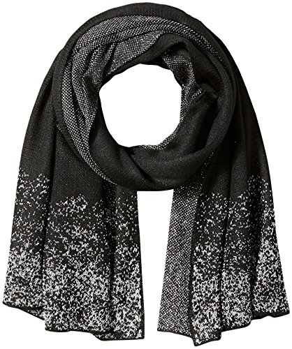 Orchid Row Women's Knit Lurex Solid Shine Fashion Basic Scarf Black O/S (Fashion Knit Solid)