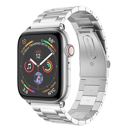 Holatee Correas de Reloj Correa de Pulsera Acero Inoxidable para Apple Watch Series 4 44mm Correa de Muñeca Repuesto: Amazon.es: Relojes
