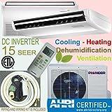 Pioner Floor - Ceiling Split Ductless Inverter+ Heat Pump System Set, 36000 BTU
