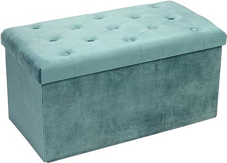 Faltbarer Sitzhocker Deckel und Stauraum Aufbewahrungsbox Sitzbank mit Stauraum