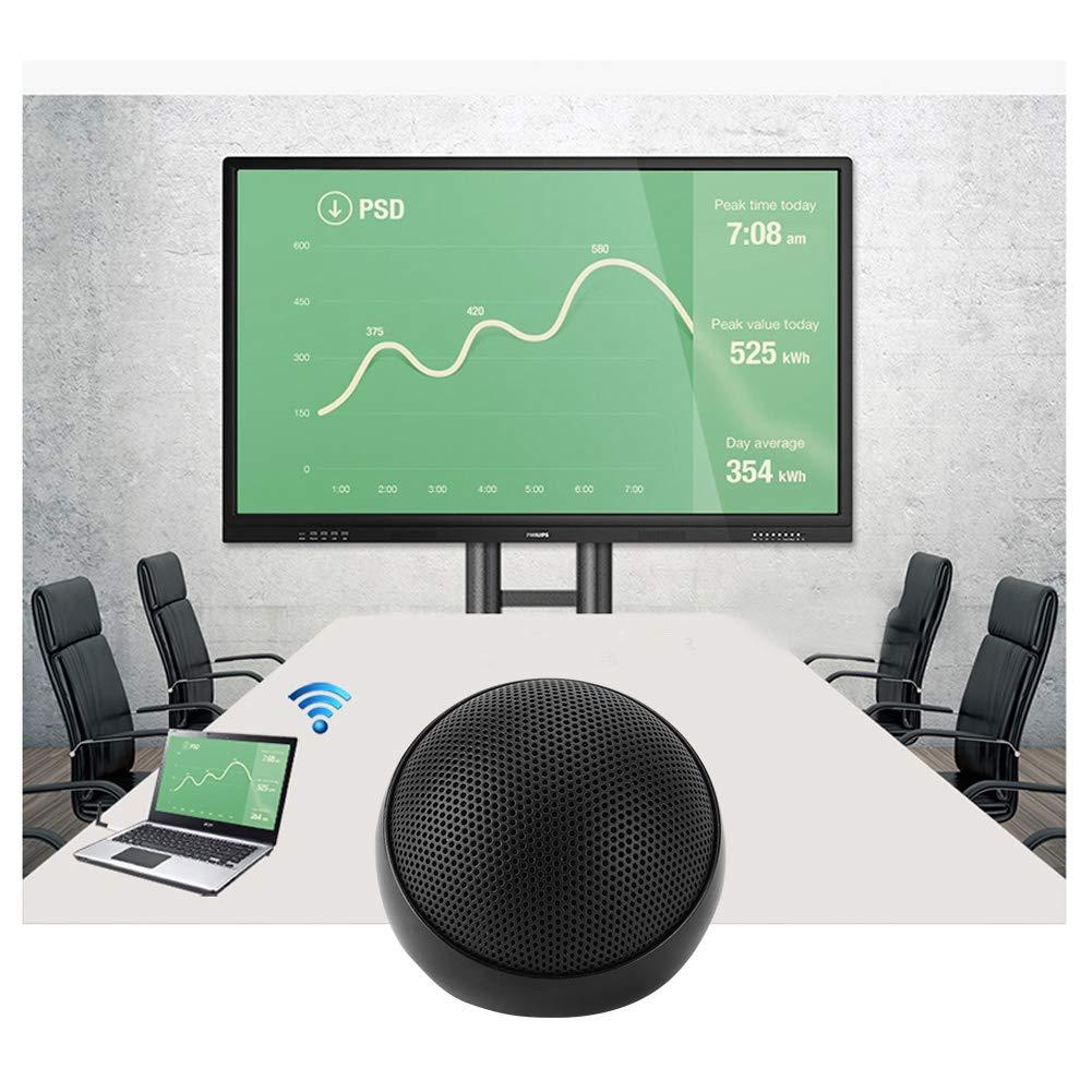 ASHATA PC Mikrofon,Mini Konferenzmikrofon 360/° Omnidirektionale Audio Video Desktop 3.5mm Kondensatormikrofon,PC-Tischmikrofon Aux Mikrofon f/ür Konferenz//Online-Chat//Meeting Schwarz