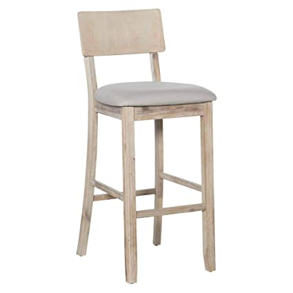 Astounding Amazon Com Linon Amzn0228 Carter Bar Stool Gray Kitchen Unemploymentrelief Wooden Chair Designs For Living Room Unemploymentrelieforg