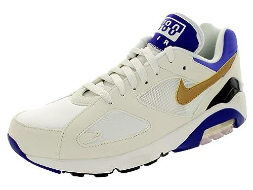 7cb52c95cd Nike Men's Air Max 180 QS Smmt Wht/Mtllc Gld/Brght Cncrd Running Shoe