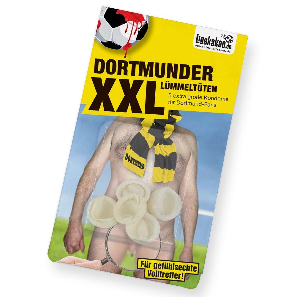 Dortmunder Spezial-LÜMMELTÜTEN: Mini-Kondome zum Schutz vor unerwünschter Vermehrung von BVB-Fans! Alle Schalke, Bayern & Fußball-Fans Aufgepasst | Fanartikel zum Überraschen, Lachen & Ärgern Lachen & Ärgern Ligakakao.de