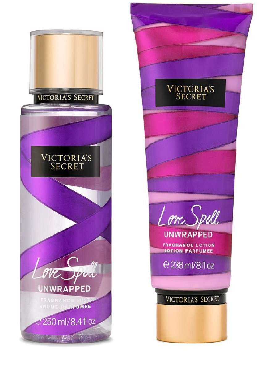 Victoria's Secret Love Spell Unwrapped Fragrance Mist and Lotion Set
