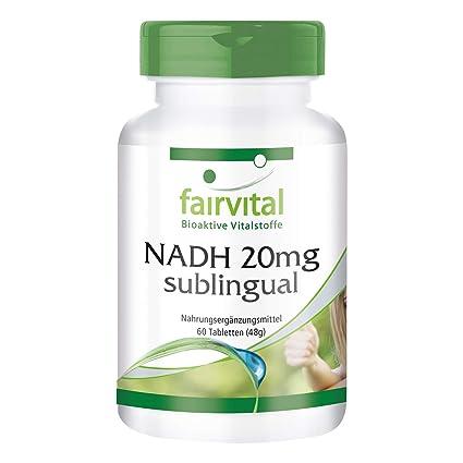 NADH 20mg sublingual - VEGANO - 60 comprimidos - estabilizado NADH - ¡Calidad Alemana garantizada