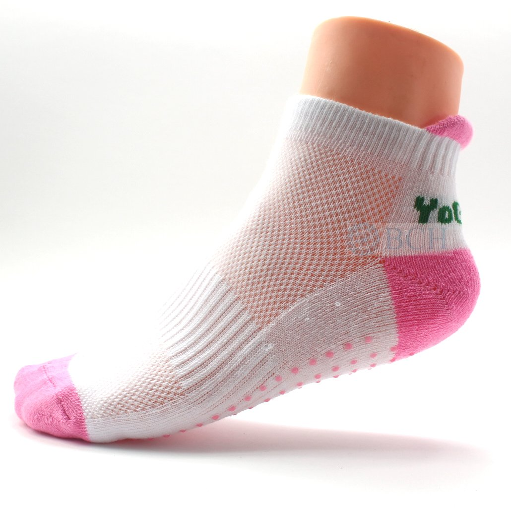 BCH® Premium Non-Slip Excercise Socks for Yoga, Palates, Barre, Ballet Barre (Pink) BCH Technologies