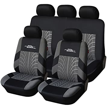 AUTOYOUTH Full Set Seat Covers For Cars Universal Fit Car Protectors Tire Tracks