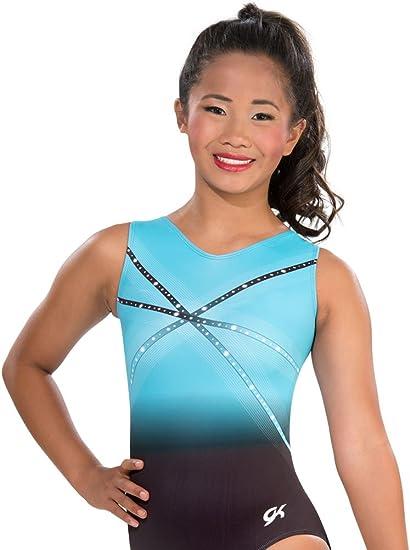 GK Justaucorps de Gymnastique Glitz /& Glam Bleu