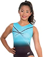 GK Glitz & Glam Gymnastics Leotard (Blue) | Ballet Dance One-Piece for Women & Girls
