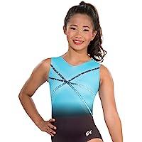 GK Glitz & Glam Gymnastics Leotard (Blue) | Ballet Dance One-Piece for Women & Girls