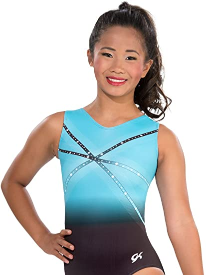 687639072 Amazon.com   GK Glitz   Glam Gymnastics Leotard (Blue)   Sports ...