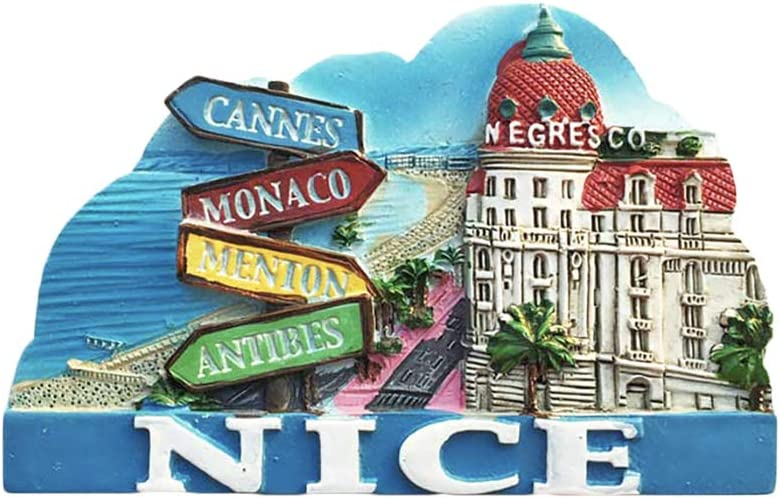 Nice France 3D Refrigerator Magnet Tourist Souvenirs Resin Magnetic Stickers Fridge Magnet Home & Kitchen Decoration from China