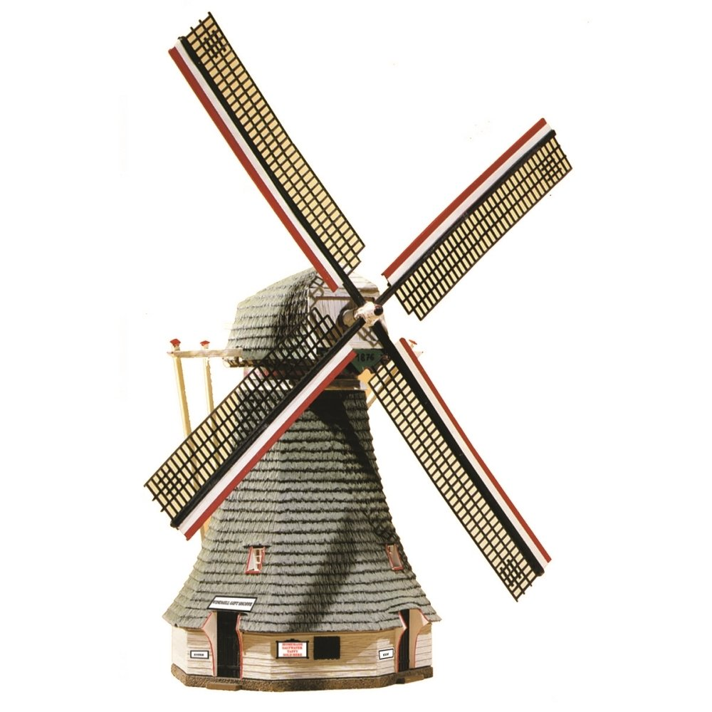 Model Power HO Scale Building Kit - Motorized Windmill 490-404 1178577