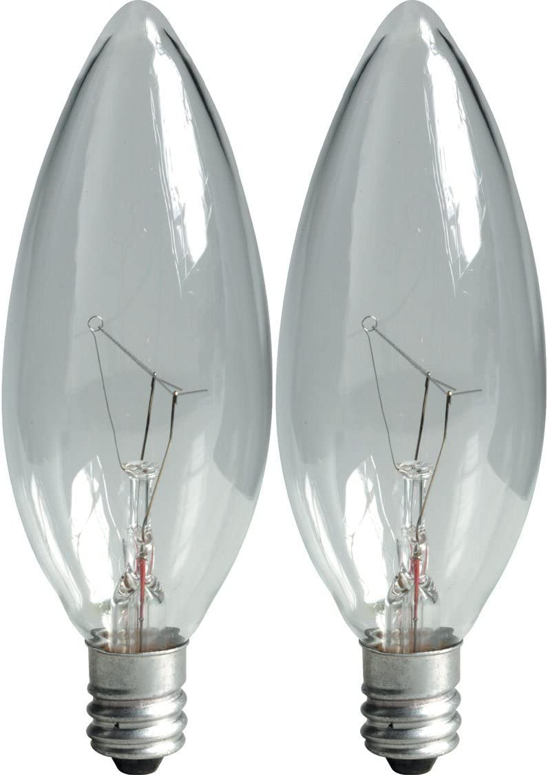GE Lighting 81561 40-Watt 300-Lumen Decorative B13 Incandescent Light Bulb, Crystal Clear, 2-Pack