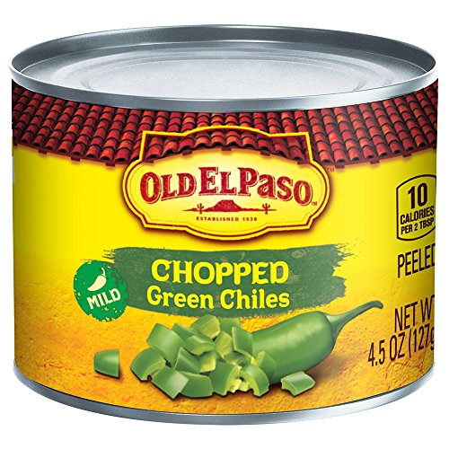 Old El Paso Chilies, Green Chili Pepper Chopped, 4.5-Ounce Cans (Pack of 24)