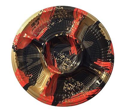 Juego de 10 bandejas de bandeja de sushi desechables Sashimi con tapa [C]