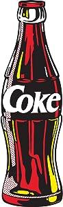 Retro Planet Coca-Cola Contour Coke Bottle Pop Art Decal 7 x 24 Coke Kitchen Wall Decor