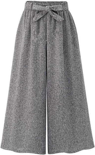 Elegantes Pantalones Invierno Talle Alto Anchos