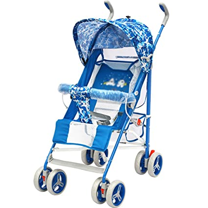 C-K-P carro de bebé, marco de metal cochecito plana de bicicleta portátil plegable (Color