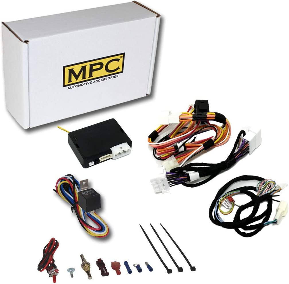 MPC Factory Remote Activated Remote Start Kit for 2014-2019 Toyota Corolla with T-Harness H-Key ONLY Firmware Preloaded