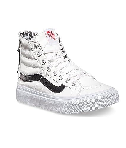 f14827d80105 Vans Unisex Shoes Sk8 Hi Slim Zip Leather True White snow Leopard. Size 3.5  Us Men-5 Us Women  Amazon.co.uk  Shoes   Bags