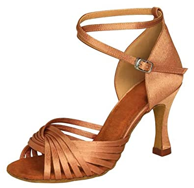 4dc2afae8ab0 KAI-ROAD Ballroom Dance Shoes Women 7.5cm Flared Heel Latin Dress Sexy  Salsa Dancing