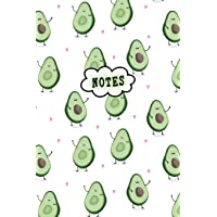 Notes: Cute Notebook Avocado Lover Lined College Ruled (6 x 9) Pages Small Composition Book Diary Softback Cover