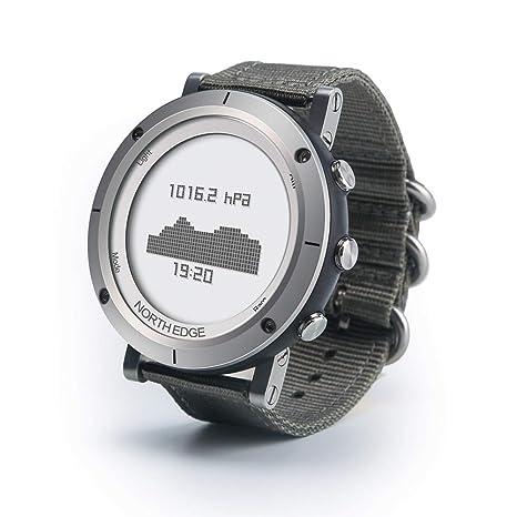 OOLIFENG Relojes GPS para Correr, Reloj Deportivo para Hombre HR con Altímetro/Barómetro/