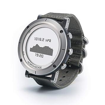 OOLIFENG Reloj Deportivo Unisex, Reloj GPS En Funcionamiento con Pulsómetro/ Altímetro/ Brújula/