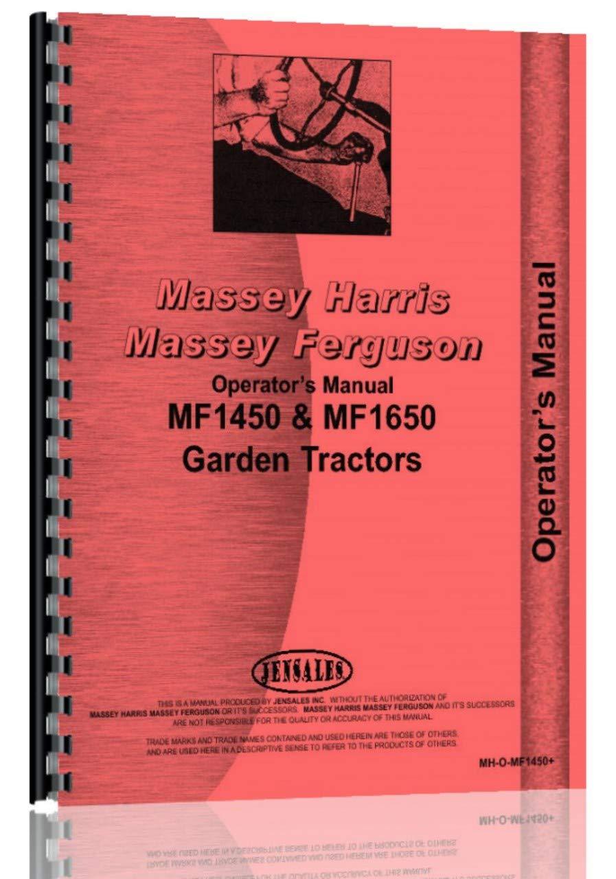 Massey Ferguson 1650 Lawn and Garden Tractor Operators Manual by Jensales