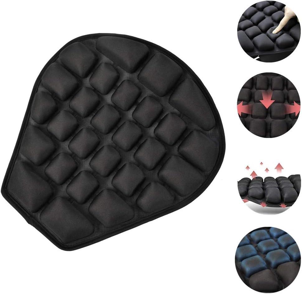 Haerniubi Motorcycle Seat Cushion, Air Fillable Seat Pad, Pressure Relief Motorcycle Cushion for Sport | Cruiser | Touring