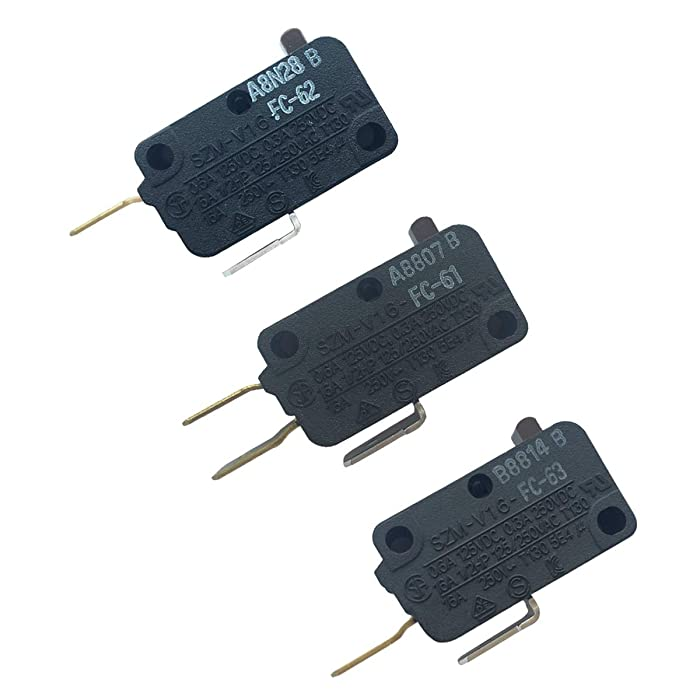 LONYE 28QBP0495 & 28QBP0497 & W10269458 Microwave Switch for for Whirlpool Microwave SZM-V16-FC-61 SZM-V16-FC-62 SZM-V16-FC-63