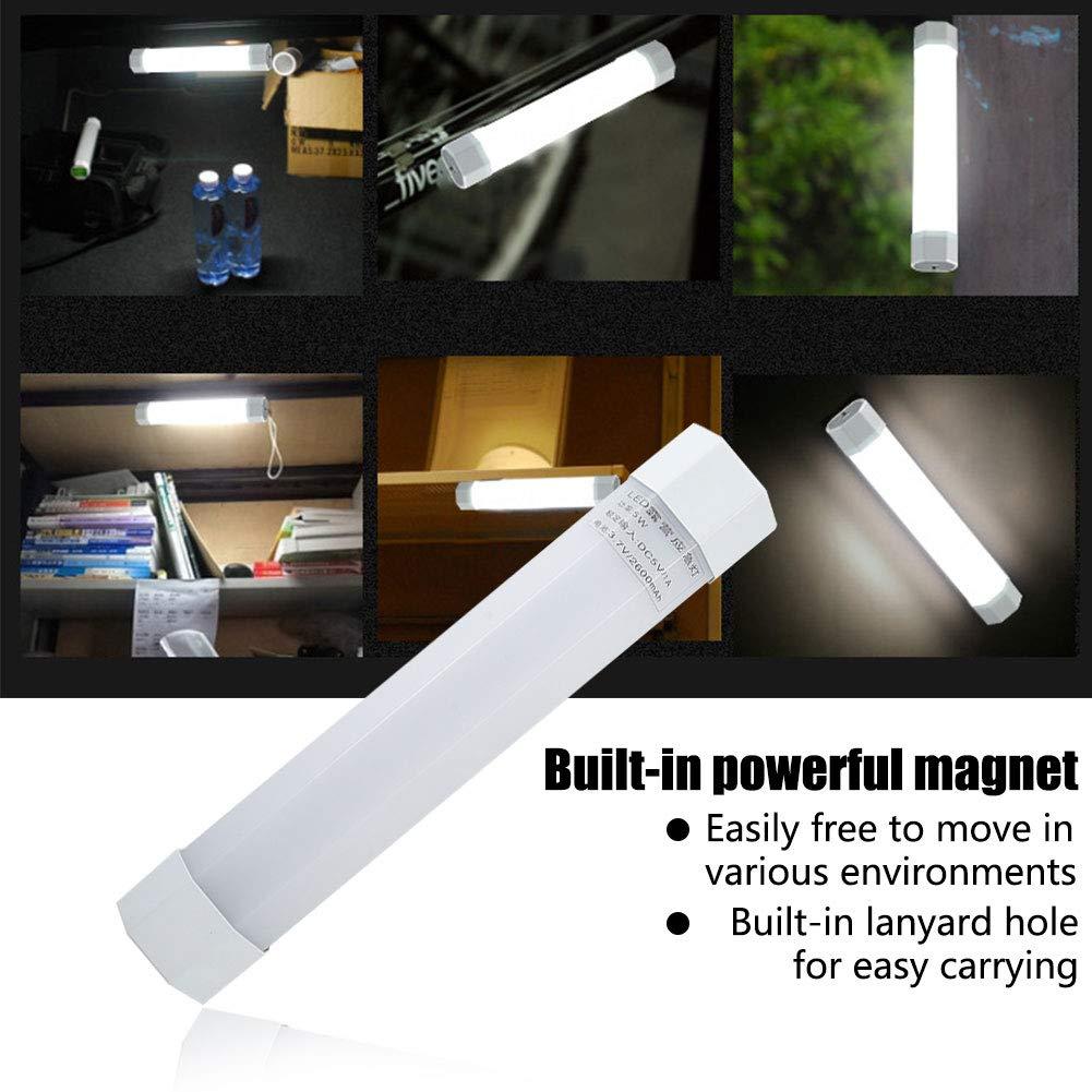 bater/ía incorporada de 2600 mAh para Carga de tel/éfono con 3 Modos de iluminaci/ón Dyda6 L/ámpara LED de Camping Impermeable de Emergencia Recargable por USB magn/ética