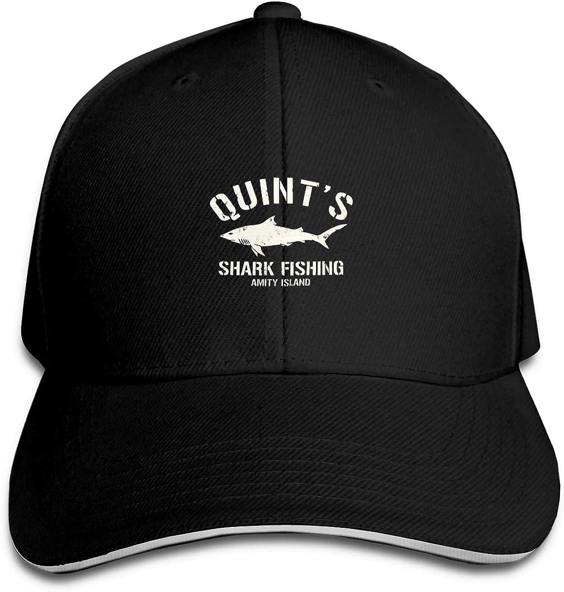 Quints Shark Fishing Logo Classic Adjustable Cotton Baseball Caps Trucker Driver Hat Outdoor Cap Black