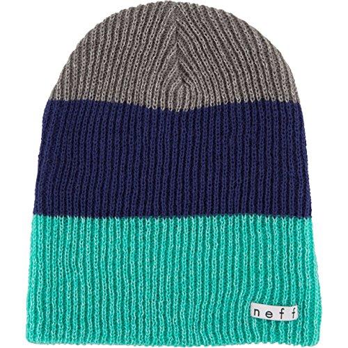 - Neff Women's Sparkle Trio Beanie Hat, Teal/Navy/Grey, One Size