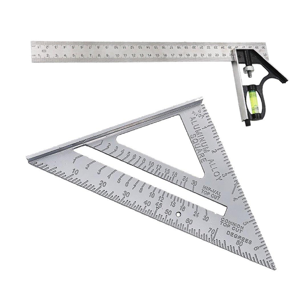 Baoblaze Engineers Measuring Set - Measuring Square, Right Angle Ruler 300mm (12') Right Angle Ruler 300mm (12)