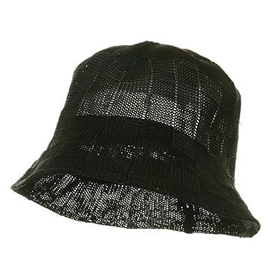 a323808120e2b Rasta NYE Mesh Checker Bucket Hat-Black at Amazon Men s Clothing store