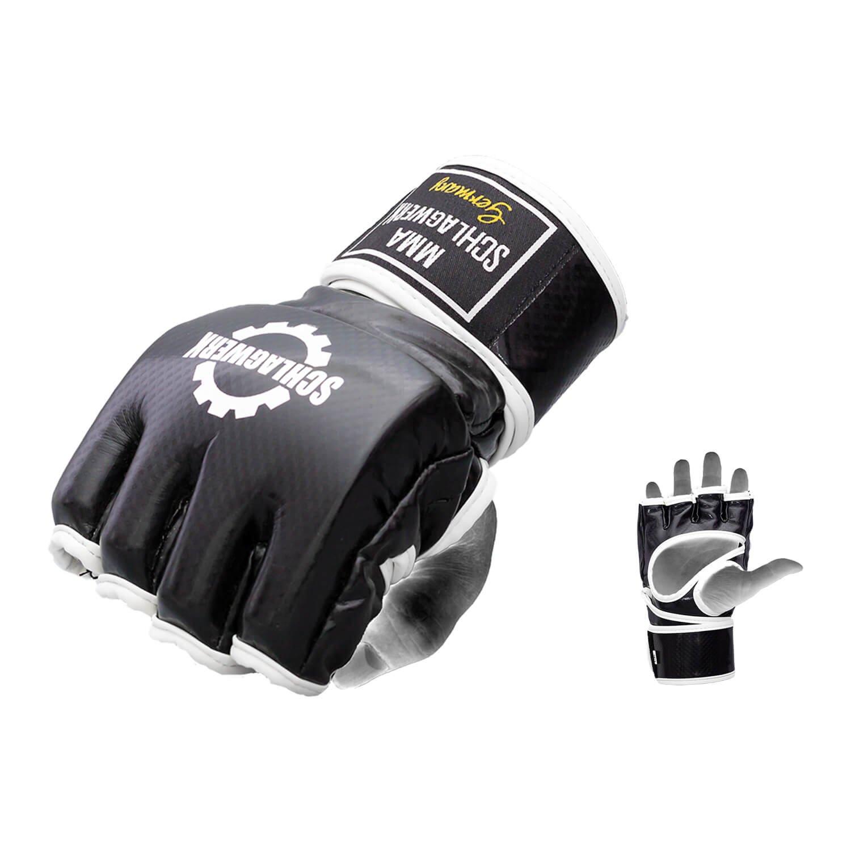 SCHLAGWERK MMA Handschuhe CarboPremium Free Fight Competition Hochwertiges SkinTex-Leder - Wettkampf Freefight - Boxen, Training, Sandsack, Boxsack, Grapling, Kampfsport