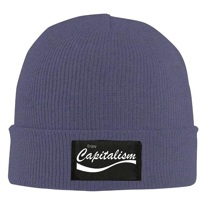 Maurmb Adult Hats Enjoy Capitalism Men Women Wool Cap Fashion Beanies Knitted Caps Warm Winter Hats
