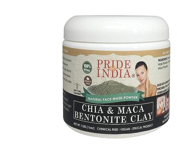 Pride Of India chia y maca Arcilla de bentonita Natural de ...