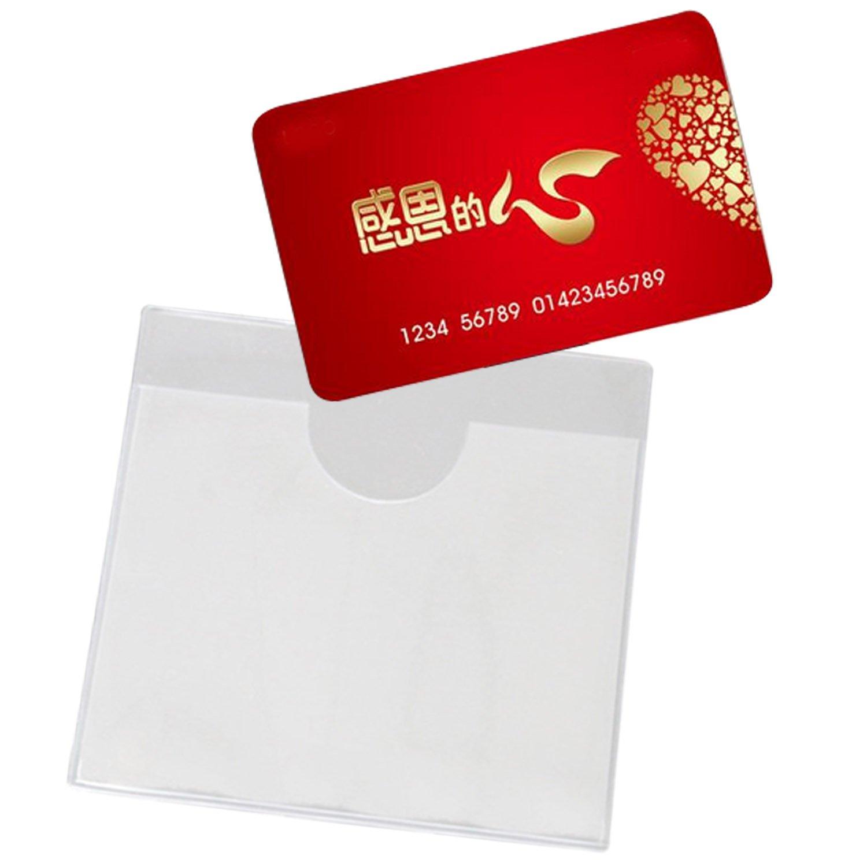 Support Ticket Stationnement Beetest 10pcs clair permis de stationnement en PVC titulaire de permis de stationnement de v/éhicule vertical permis passe /étiquette porte-/étiquette pour pare-brise de voiture 4,72 x 3,54 pouces