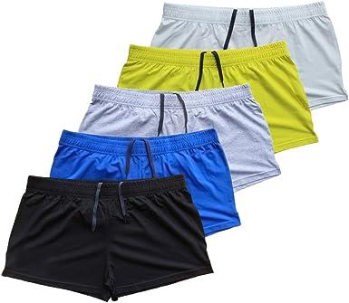 Muscle Alive Hombres Culturismo Gimnasio Rutina de Ejercicio Pantalones Cortos Terry Algod/ón