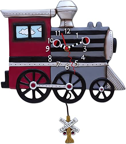 Allen Designs Choo Choo Train Pendulum Clock