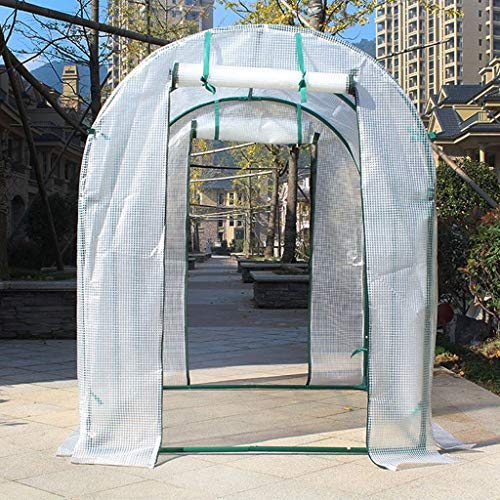 XY&CF-Flower house Plant Greenhouse PE mesh Cloth All Steel Skeleton Double Door Greenhouse Garden (100100120cm) (Double Door Greenhouse)