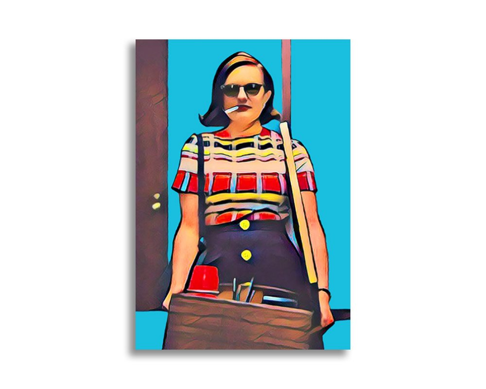 Mad Men Peggy Olson Flat Card Poster/Postcard 5x7 inch with Envelope