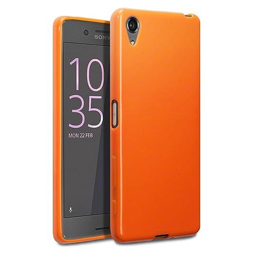 16 opinioni per Terrapin TPU Gel Custodia per Sony Xperia X Case, Colore: Arancione