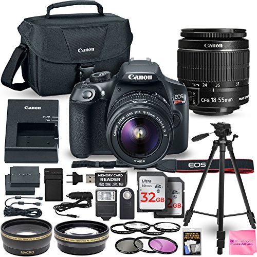 Canon EOS Rebel T6 DSLR Camera Bundle with Canon EF-S 18-55mm f/3.5-5.6 IS II Lens + 2pc 32GB Memory Cards + Camera Works DELUXE Accessory Kit from Camera Works