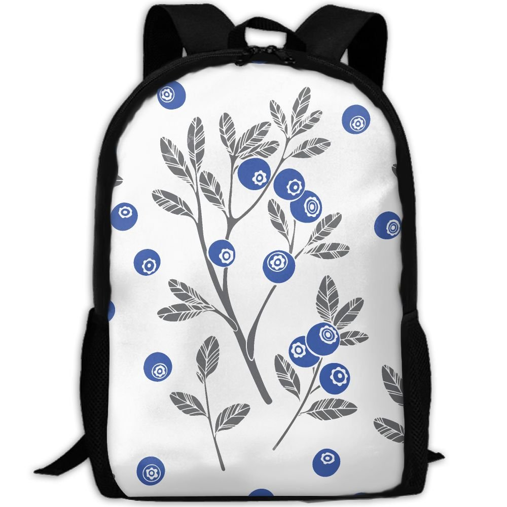 OIlXKV Blueberry Branch Print Custom Casual School Bag Backpack Multipurpose Travel Daypack For Adult